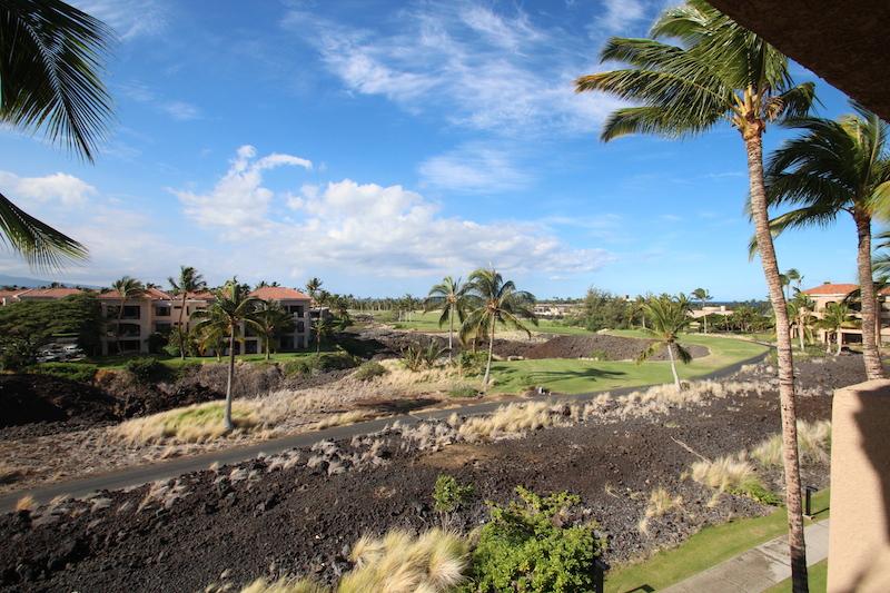 ヒルトン ベイクラブのベランダから見たハワイ島の景色