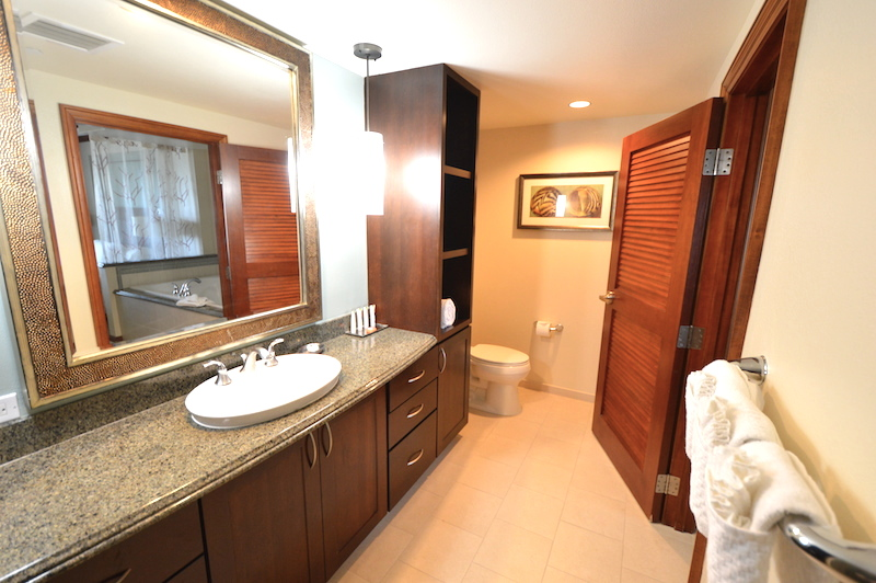 ヒルトン タイムシェア グランド・ワイキキアンのペントハウスのお手洗い