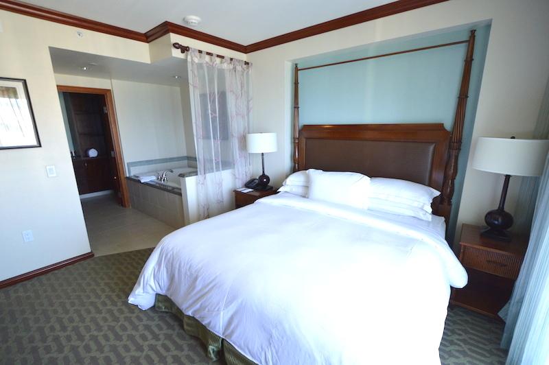 ヒルトン タイムシェア グランド・ワイキキアンのペントハウスの寝室