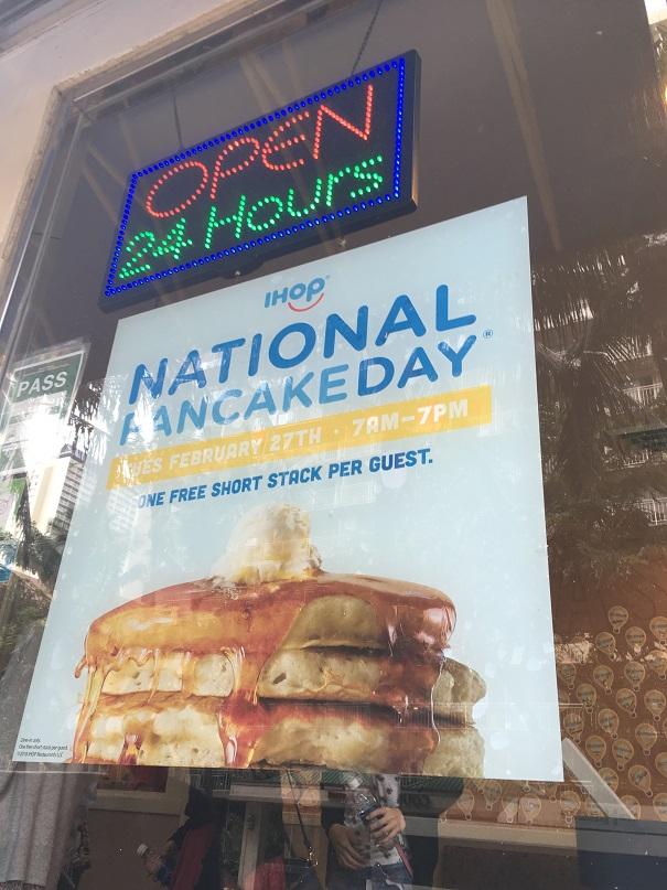 2月27日はIHOPのNational Pancake Day