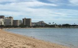 ハワイのアラモアナビーチを綺麗に使用