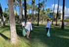 くじら倶楽部主催のアラモアナのビーチクリーンアップ