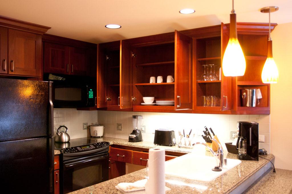 ヒルトンのタイムシェア、グランドワイキキアンのお部屋のキッチン