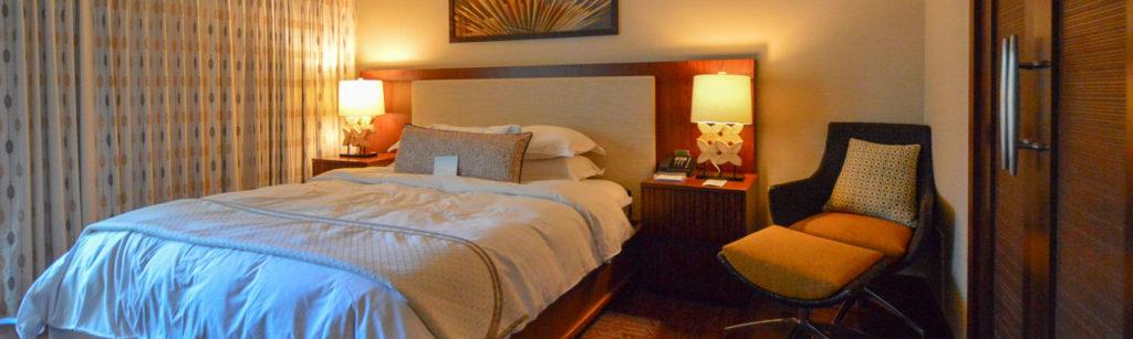 ヒルトン、ホクラニのベッドルーム