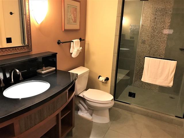 アウラニの1LDKのシャワーと洗面所
