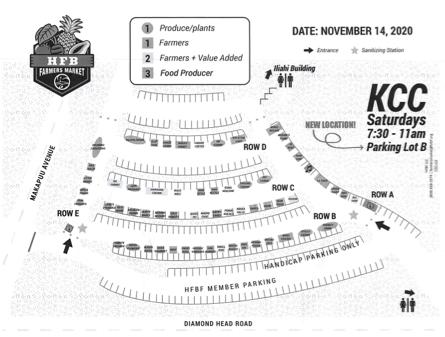 KCCファーマーズマーケットの最新地図