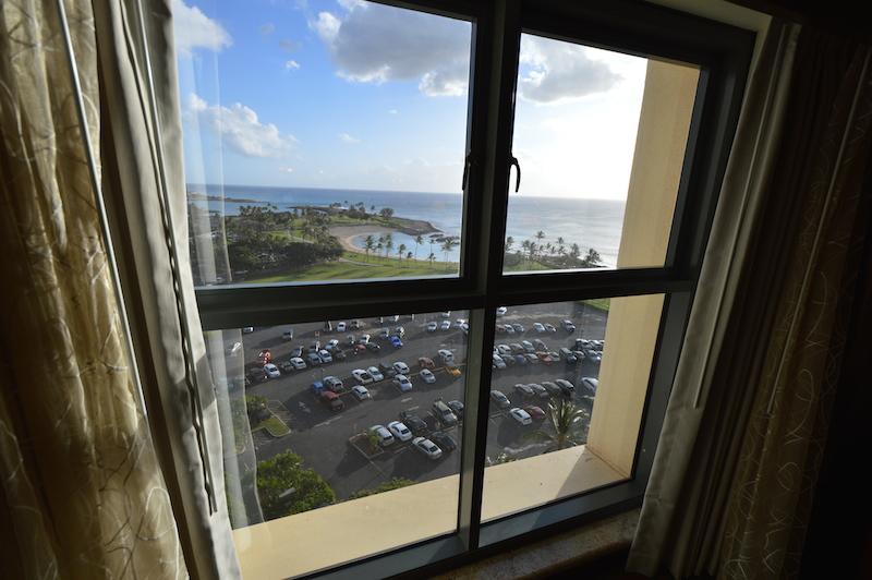 マリオットコオリナのお部屋紹介 主寝室(マスターベッドルーム)からの眺め