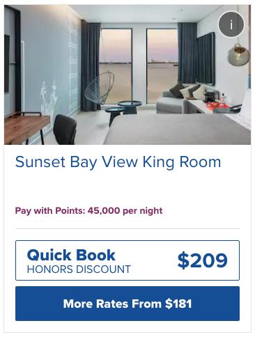 ヒルトンカンクンに泊まるために必要なHオナーズ ホテルポイント