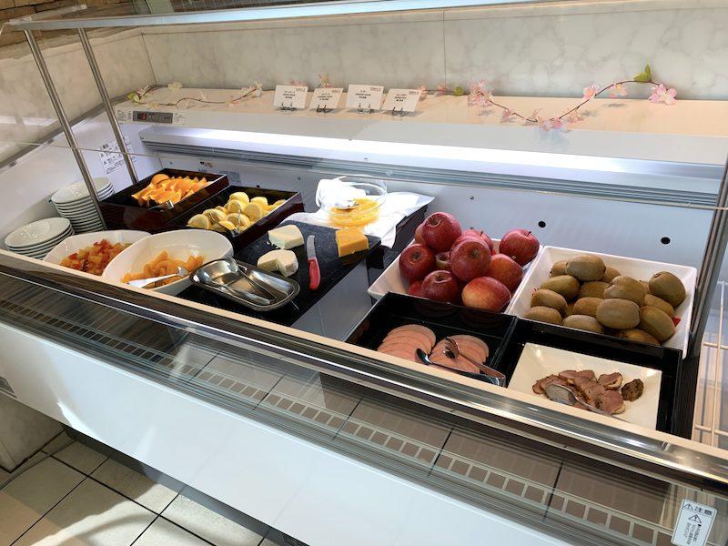 ヒルトンホテルの朝食バーエリア