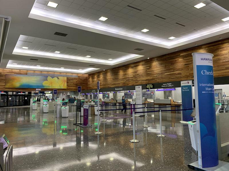 2021年4月日本へ帰国する際のホノルル空港の様子