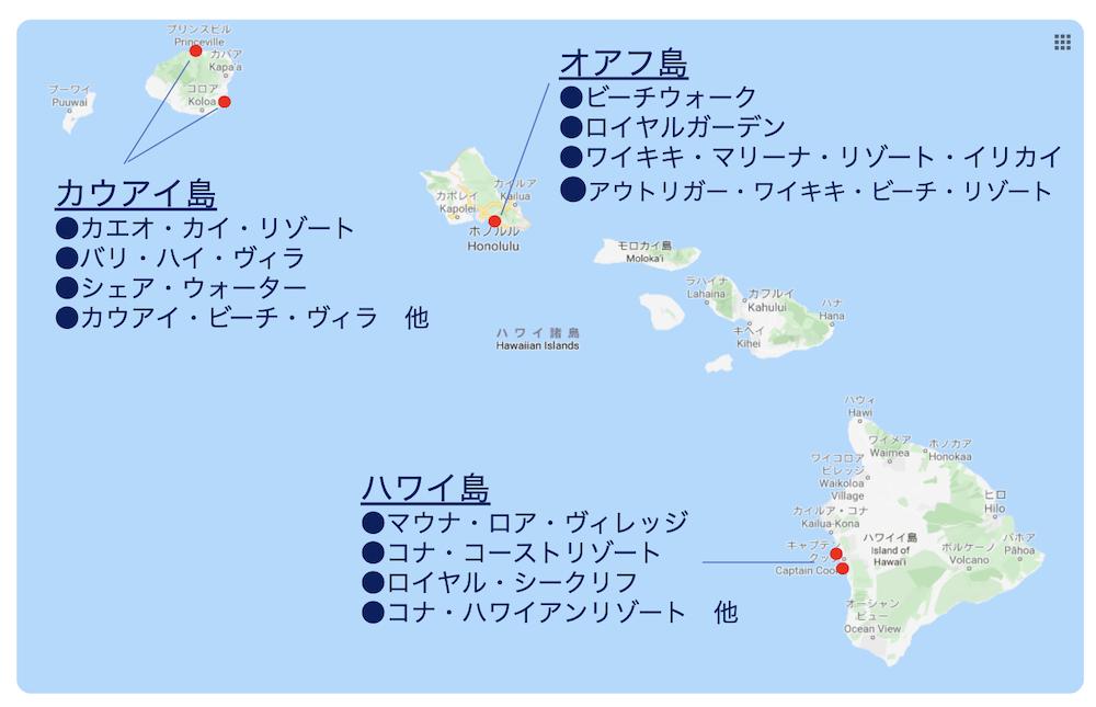 ウィンダムが経営するハワイのリゾート