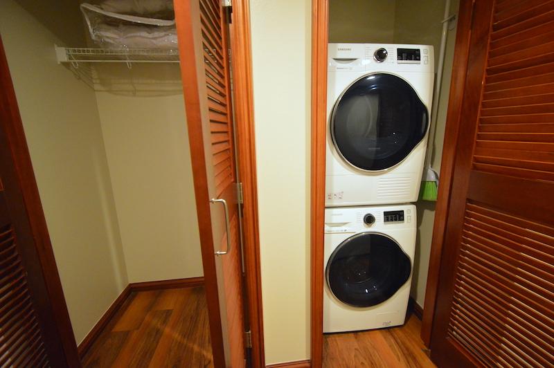 ヒルトンワイキキアンのペントハウス3711号室に完備されている洗濯機と乾燥機